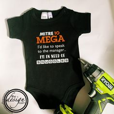 Know a manager that needs some hugs? Contact us for a custom tee #mitre10 #mitre10mega #customonesie #haveityourway