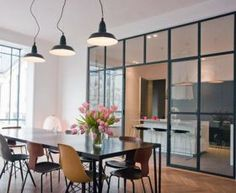 ▷ 1001 + ideas for the layout of the semi open kitchen Semi Open Kitchen, Open Plan Kitchen, Small Kitchen Layouts, Kitchen Ideas, Interior Styling, Interior Design, Bohemian Living Rooms, Dinner Room, Small Spaces