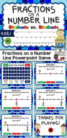 Engage students with this fun, interactive fractions game. Students must determine what the fraction is when given a number line and a single point. This is a student vs. students game so students are competing against one another. There's also a hint to