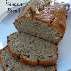 My mother made THE best banana bread ever. You'll have this Super Moist Banana Bread in the oven in under 15 minutes. Our favorite way to eat it is warm with a dollop of butter! Super Moist Banana Bread, Easy Banana Bread, Banana Bread Recipes, Banana Bread Recipe With Pudding, No Butter Banana Bread, Banana Bread Recipe With Baking Powder, Quick Bread, Puddings, Clean Eating