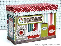 "PaperVine: ""Homemade"" Box (Echo Park) and PaperHaus Winner!"