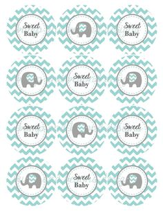 Yellow Grey Chevron Baby Shower Decorations Printable Party Supplies Cupcake Toppers Oh Baby! Distintivos Baby Shower, Baby Shower Chevron, Baby Shower Yellow, Baby Shower Vintage, Baby Yellow, Baby Shower Cupcakes, Baby Shower Themes, Shower Ideas, Deco Elephant