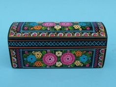 painted boxes | Wood Box Hand painted by Amuzgos Indians.