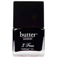 butter LONDON 3 Free Lacquer - Union Jack Black 11ml ($16) ❤ liked on Polyvore featuring beauty products, nail care, nail polish, makeup, nails, beauty, fillers, butter london nail lacquer, butter london nail polish and butter london
