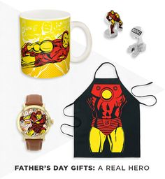 Dad's always got your back. Celebrate his greatness this Father's Day with Marvel's Iron Man gear. Featured product: Marvel Iron Man mug, cuff links, leather watch and apron. Shop for Father's Day gifts at Kohl's.