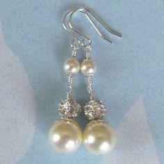 Pearl Earrings Wedding Earrings Bridal
