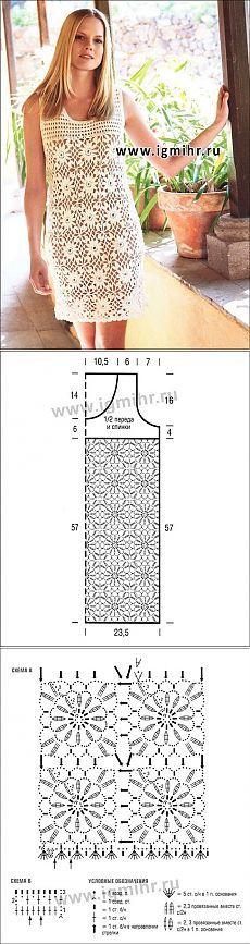 Летнее мини-платье из квадратных цветочных мотивов.