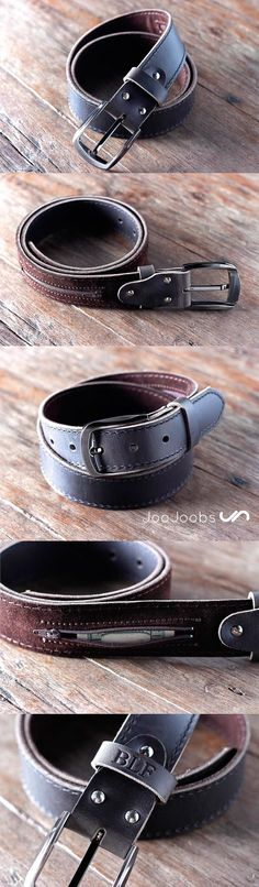 Probably the last handmade leather belt you will ever buy!! FREE personalization makes it the perfect gift for men.