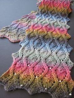 Peek-a-Bead Scarf pattern by Jackie Erickson-Schweitzer