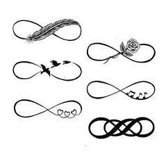 Infinity Symbol ❤ liked on Polyvore featuring accessories