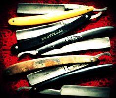 Vintage barber blades