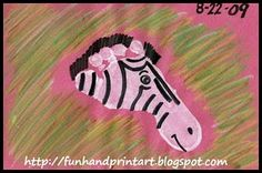 Zebra footprint- so cute going to do this as a summer craft with my girls