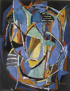 André Lanskoy (1902-1976) was een Russische schilder en graficus die in Frankrijk werkte. Hij is verbonden aan de School van Parijs en tachisme , een abstract schilderij beweging die begon tijdens de jaren 1940.