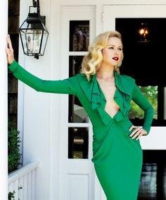 #Naomi Watts by Arthur Elgort, 2011  green dresses #2dayslook #green style #greenfashion  www.2dayslook.com
