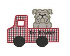 Bulldog Truck Applique - 3 Sizes! | Trucks | Machine Embroidery Designs | SWAKembroidery.com Applique for Kids