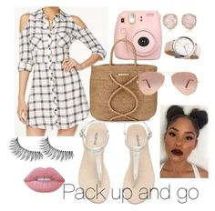 """""""Pack up and Go👋"""" by jordansquad27 ❤ liked on Polyvore featuring Material Girl, Fujifilm, ViX, Trish McEvoy, Lime Crime, Monica Vinader, Ray-Ban, Packandgo and greekislands"""