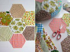 Cushions made of VINTAGE fabric scraps. By Handwerkjuffie.
