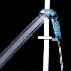 New Anion SPA Head Shower Handheld Water-saving Bath Shower Nozzle Sprinkler Sprayer Filter Transparent Bathroom Shower Faucets, Bath Shower, Bathrooms, Shower Nozzle, Shower Filter, Hand Held Shower, Save Water, Sprinkler, Filters