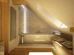 LUKSUSOWE LAZIENKI | Projekt nowoczesnej łazienki na poddaszu