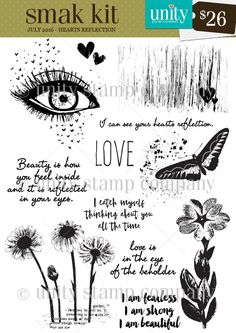 Hearts Reflection SMAK {7/16} Unity Stamp Co's Exclusive Membership Program. Click for details!