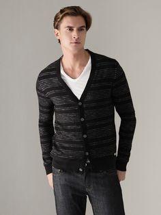 Converse Black Canvas: Reverse Stripe Cardi...love the stripes
