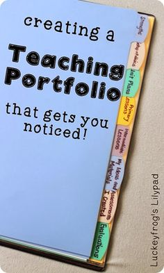 Creating a Teaching Portfolio that Gets You the Job! Need to use this window into the classroom idea!