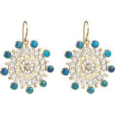 Judy Geib - Opal, Platinum and Gold Filigree earrings