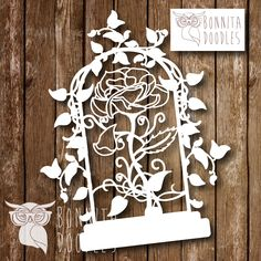 Fairy tale As old as time Papercut template