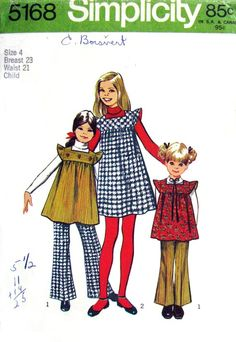 Simplicity patterns like this.  I loved going to the store, picking out my clothes and the fabric for mom to make it.