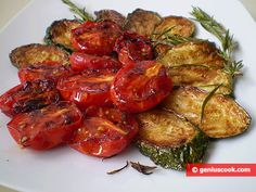 The Recipe for Fried Tomatoes and Zucchini with Rosemary | Italian Food Recipes | Genius cook - Healthy Nutrition, Tasty Food, Simple Recipes