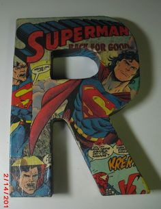 crafts made with comic books | like them all, but like the way that the Superman one turned out the ...