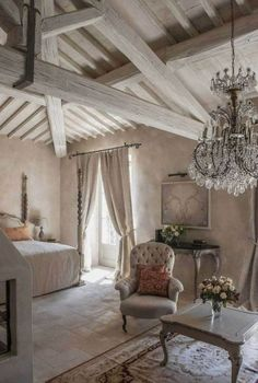 Country Bedroom Design, French Country Bedrooms, French Country Living Room, French Country Decorating, French Decor, Swedish Decor, Southern Living, Country Style Homes, French Country Style