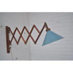 Originele houten schaarlamp