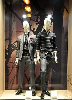 Marks & Spencer window displays Autumn 2012, Budapest visual merchandising