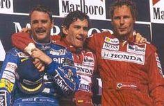 Mansell, Senna and Berger, Hungary 1992 (Mansell had just won the championship!)