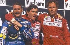 Mansell, Senna and Berger, Hungary 1992 (Mansell had just won the championship!)