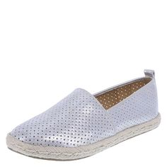 "Take your flat style to the next level with the Elektra Espadrille from Brash! It features a faux snake skin textured upper, easy slip-on design, ankle pull tab, woven trim, 1/2"" platform, padded insole for comfort, and a durable outsole. Manmade materials."