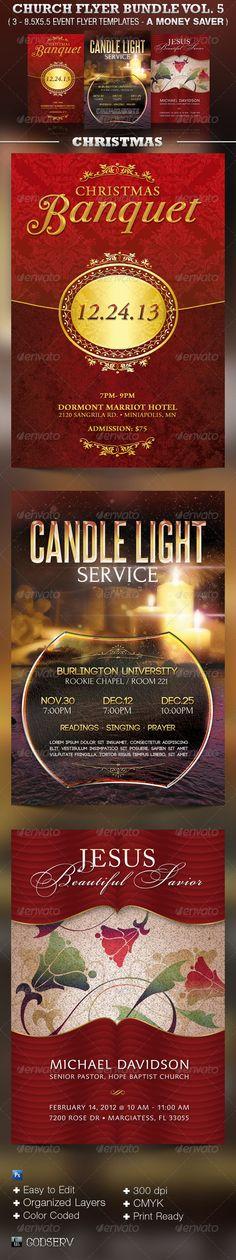 Church Flyer Template Bundle Vol 5 - Christmas - $11.00