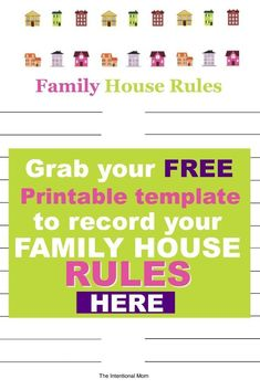 Create Your Own Family House Rules!Whether you have a few house rules or many, this cute printable template will be the perfect place for you to put them! Saving A Marriage, Marriage Advice, Parenting Teens, Parenting Hacks, Your Family, Family Kids, Mothers Of Boys, Free Advice, House Rules