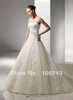 >> Click to Buy << free shipping 2016 new fashion strapless long design a-line flower vestidos lace appliques wedding Dress bridal bride dresses #Affiliate