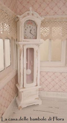 Shabby Doll House | Shabby grandfather clock - 1/12 dolls house dollhouse miniature