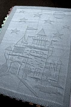 """Knitted rugs from around the world: Knitted plaid spokes pattern """"Castle"""""""