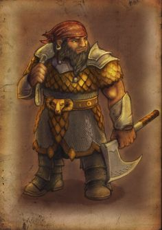 Dwarf fighter level 01 by zironeto on DeviantArt
