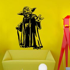Find More Wall Stickers Information about New design Master Yoda wall sticker home decor Movie vinyl art house decoration removable Star Wars decal,High Quality decorative mirror decals,China decal wall Suppliers, Cheap decorative vinyl wall decals from Big dream on Aliexpress.com