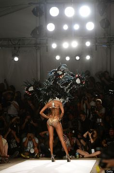 Red Carter 2013 Collection At Mercedes Benz Fashion Week, Miami Beach.  What an beautiful shot!