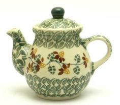 Polish Pottery The Teapot for One in Indian Summer