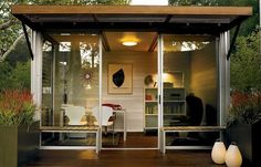 Another prefab shed office. Love.