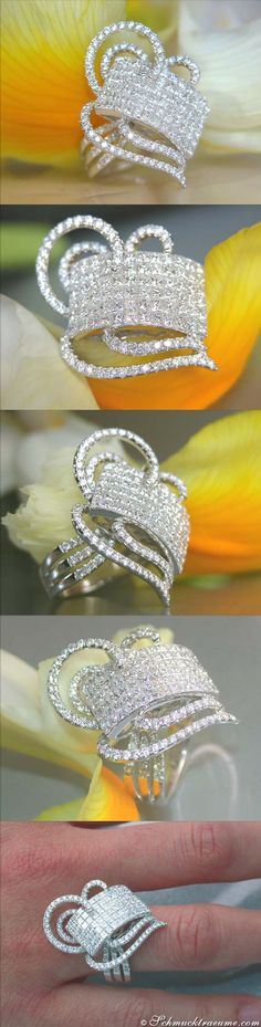Terrific Diamond Ring - Invisible Setting - 3,03 ct. G-VS/VVS WG18K - Visit: schmucktraeume.com Like: https://www.facebook.com/pages/Noble-Juwelen/150871984924926 Mail: info@schmucktraeume.com