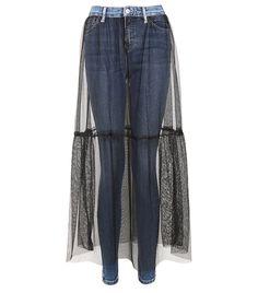 Topshop Moto Tulle Skirt Jamie Jeans ($90) Did Topshop Just Make Ballerina Skinny Jeans a Thing? via @WhoWhatWear
