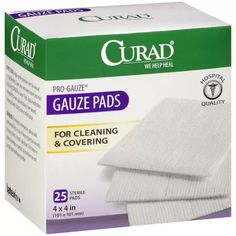 "Curad Pro-Gauze Sterile Pads, 4"" x, 4"", 25ct"
